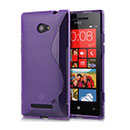 Coque HTC 8X Windows Phone S-Line Silicone Gel Housse - Pourpre