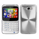 Coque HTC Chacha G16 A810e Aluminium Metal Plated Etui Rigide - Blanche