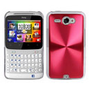 Coque HTC Chacha G16 A810e Aluminium Metal Plated Etui Rigide - Rouge