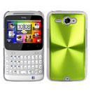 Coque HTC Chacha G16 A810e Aluminium Metal Plated Etui Rigide - Verte