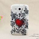 Coque HTC Chacha G16 A810e Amour Silicone Housse Gel - Noire