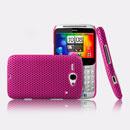 Coque HTC Chacha G16 A810e Filet Plastique Etui Rigide - Rose Chaud