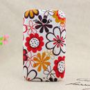Coque HTC Chacha G16 A810e Fleurs Silicone Housse Gel - Brown