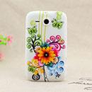 Coque HTC Chacha G16 A810e Fleurs Silicone Housse Gel - Jaune