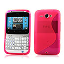 Coque HTC Chacha G16 A810e S-Line Silicone Gel Housse - Rose Chaud