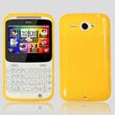Coque HTC Chacha G16 A810e Silicone Gel Housse - Jaune