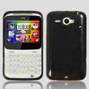 Coque HTC Chacha G16 A810e Silicone Gel Housse - Noire