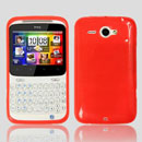 Coque HTC Chacha G16 A810e Silicone Gel Housse - Rouge