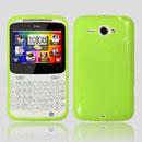 Coque HTC Chacha G16 A810e Silicone Gel Housse - Verte