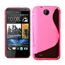 Coque HTC Desire 300 301e S-Line Silicone Gel Housse - Rose Chaud