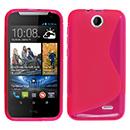 Coque HTC Desire 310 S-Line Silicone Gel Housse - Rose Chaud