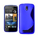 Coque HTC Desire 500 S-Line Silicone Gel Housse - Bleu
