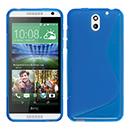 Coque HTC Desire 610 S-Line Silicone Gel Housse - Bleu