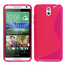 Coque HTC Desire 610 S-Line Silicone Gel Housse - Rose Chaud