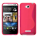 Coque HTC Desire 616 S-Line Silicone Gel Housse - Rose Chaud