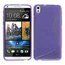 Coque HTC Desire 816 S-Line Silicone Gel Housse - Pourpre