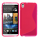 Coque HTC Desire 816 S-Line Silicone Gel Housse - Rose Chaud
