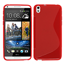 Coque HTC Desire 816 S-Line Silicone Gel Housse - Rouge