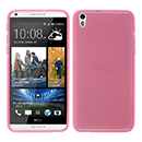 Coque HTC Desire 816 Silicone Transparent Housse - Rose