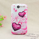 Coque HTC Desire Bravo G7 A8181 Amour Silicone Housse Gel - Pourpre