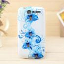 Coque HTC Desire Bravo G7 A8181 Fleurs Silicone Housse Gel - Bleu
