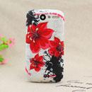 Coque HTC Desire Bravo G7 A8181 Fleurs Silicone Housse Gel - Rouge