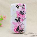 Coque HTC Desire Bravo G7 A8181 Papillon Silicone Housse Gel - Noire