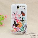 Coque HTC Desire Bravo G7 A8181 Papillon Silicone Housse Gel - Verte
