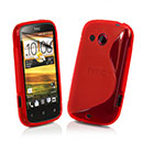 Coque HTC Desire C A320e S-Line Silicone Gel Housse - Rouge