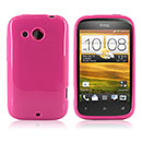 Coque HTC Desire C A320e Silicone Gel Housse - Rose Chaud