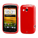 Coque HTC Desire C A320e Silicone Gel Housse - Rouge