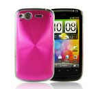 Coque HTC Desire S G12 S510e Aluminium Metal Plated Etui Rigide - Rose Chaud