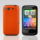 Coque HTC Desire S G12 S510e Filet Plastique Etui Rigide - Orange