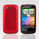 Coque HTC Desire S G12 S510e Plastique Etui Rigide - Rouge