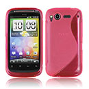 Coque HTC Desire S G12 S510e S-Line Silicone Gel Housse - Rose Chaud