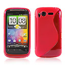 Coque HTC Desire S G12 S510e S-Line Silicone Gel Housse - Rouge