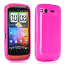 Coque HTC Desire S G12 S510e Silicone Gel Housse - Rose Chaud