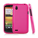 Coque HTC Desire V T328W Silicone Gel Housse - Rose Chaud