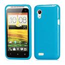 Coque HTC Desire VT T328t Silicone Gel Housse - Bleue Ciel