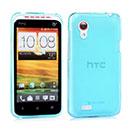 Coque HTC Desire VT T328t Silicone Transparent Housse - Bleue Ciel