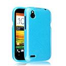 Coque HTC Desire X T328e Silicone Gel Housse - Bleue Ciel