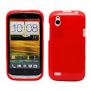 Coque HTC Desire X T328e Silicone Gel Housse - Rouge