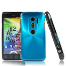 Coque HTC EVO 3D G17 Aluminium Metal Plated Etui Cover - Bleue Ciel