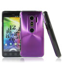 Coque HTC EVO 3D G17 Aluminium Metal Plated Etui Cover - Pourpre