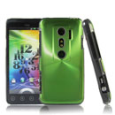 Coque HTC EVO 3D G17 Aluminium Metal Plated Etui Cover - Verte