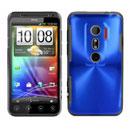 Coque HTC EVO 3D G17 Aluminium Metal Plated Etui Rigide - Bleu