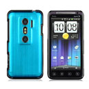 Coque HTC EVO 3D G17 Aluminium Metal Plated Etui Rigide - Bleue Ciel