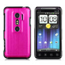 Coque HTC EVO 3D G17 Aluminium Metal Plated Etui Rigide - Rose Chaud