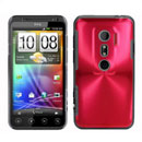 Coque HTC EVO 3D G17 Aluminium Metal Plated Etui Rigide - Rouge