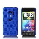Coque HTC EVO 3D G17 Filet Plastique Etui Rigide - Bleu